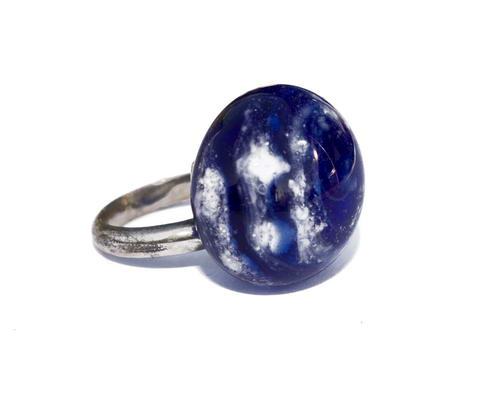 As in glas schroef (ring) top blauw